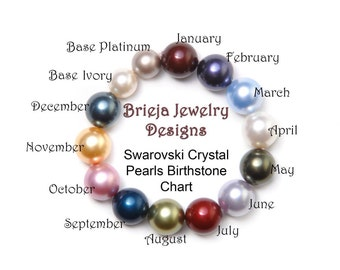 Add on Swarovski Crystal Pearl for Brieja Mothers bracelet.