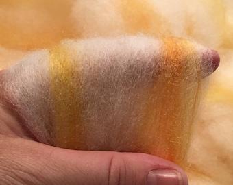 Light CVM Cross Wool with Bamboo & Yellow Gold Orange Banana Silks