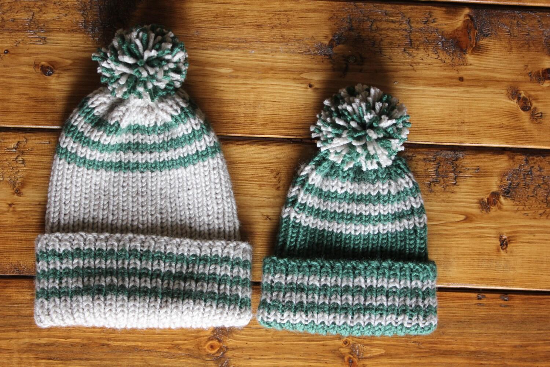 KNITTING PATTERN PDF Toddler ribbed hat toddler knit hat