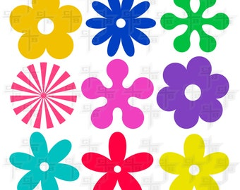 Retro flower ornaments svg Hipster Svg PNG Files Svg Files for Silhouette Cameo Svg Files for Cricut Files for cutting