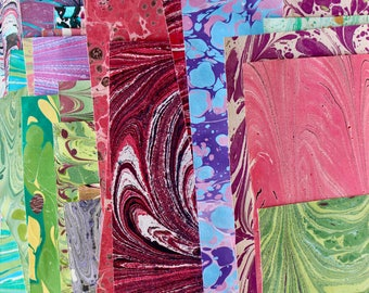 Craft Pack of Assorted Hand Marbled paper