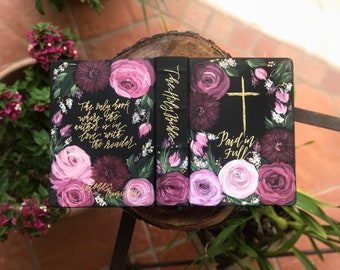 Hand Painted Bible // 'Oh, How He Love Us'