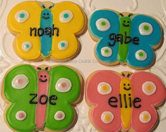 Colorful Butterfly Cookies 2 dozen