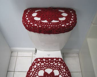 burgundy toilet seat cover. Crochet Toilet Tank Lid Cover  Toilet Seat Cover Burgundy TTL17N 19VC14 Or Cozy Etsy
