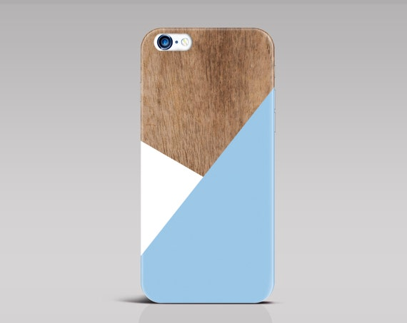 iPhone 6 case Blue iPhone 6 plus case iPhone 8 case geometric iPhone 7 case iPhone 6s case iPhone 7 Plus case wood Samsung S6 case [286]