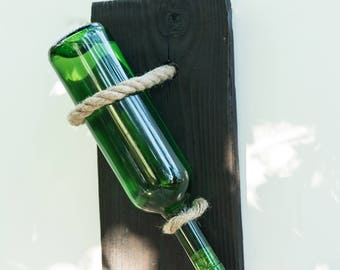 Wine Rack - 100% natural wood and hemp rope - 19 colors available