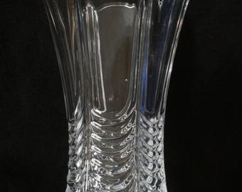 Pay Corps Flower Vase Cut Crystal Glass Military Gift ME46