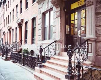Greenwich Village NYC Wall Art New York City Print Architecture Photo Urban Decor Brownstone Print New York Photography New York Print