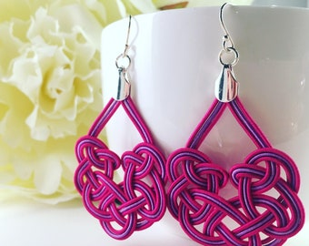 Mizu Woven Earring - Pink and Purple