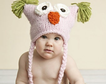 Owl Knit Hat for Baby and Child