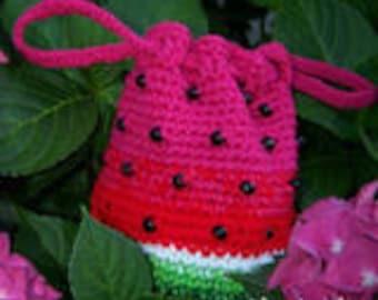 Watermelon Purse ~ Crochet Pattern - Instant Download
