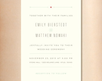 Wedding Invitations in Love Struck DIY Printable