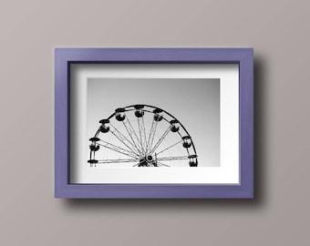 Black and White Series: Ferris wheel