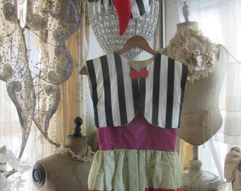 SALE  Vintage Kids Handmade Theater Halloween Costume Dress Shirts Hat A114