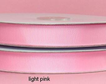 7/8 inch x 25 yds grosgrain ribbon - LT PINK