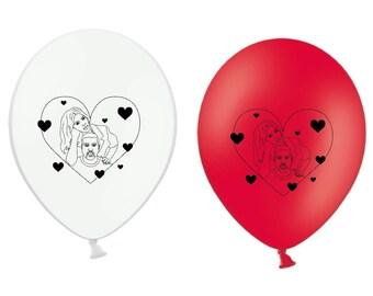 Kanye West balloons /We go together like Kimye/ Latex Balloons kanye west/ Kim Kardashian/ Yeezy/ illustration/Love/valentines day gift