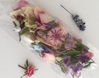 Dry Flower Confetti, Wedding Confetti, Dry Flowers, Real, Flower Girl, Petal Confetti, Aisle, Wedding Decorations, 20 Boxes or Bags Confetti