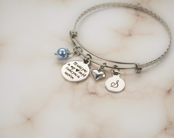 Personalized Memorial Bracelet - Elegant Engraved Sympathy Gift - Dainty Custom Remembrance Jewelry Loss of Baby Loss Child - Miscarriage 83