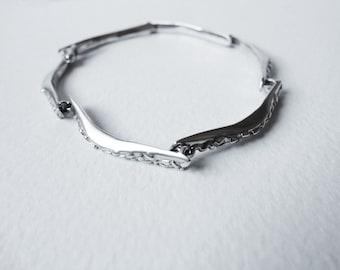 Sterling silver bracelet, Silver Bracelet, Unique Bracelet,  Designer Bracelet, contemporary jewelry, Handmade bracelet, Link Bracelets