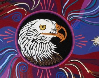 Bald Eagle, Wall plaque, Star Circle