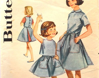 Girl's Size 6 Blouse only- SKIRT NOT INCLUDED unfortunately Butterick 2688 Vintage Sewing Pattern