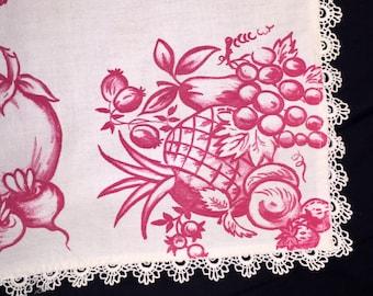 Vintage Fruit and Vegetables Table Linen