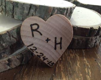 50 Rustic wedding favor magnets barn wedding country favors true love bridal shower favors