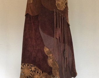 "Leather skirt ""NIGHTINGALE"" spiral Brown (example photo)"