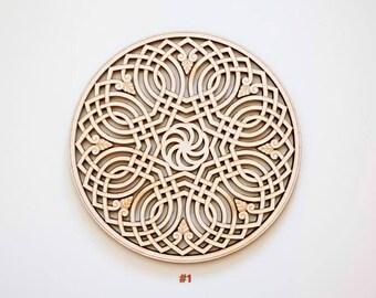 Armenian Infinity Laser Cut Wood Trivet