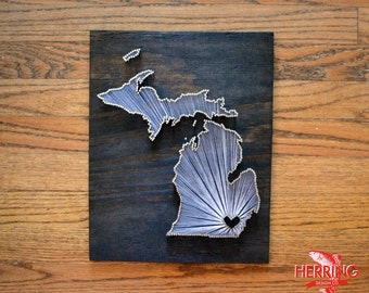 Stained Michigan State String Art - Ann Arbor, Michigan - Stained Nail Art - University of Michigan - Michigan State Spartans
