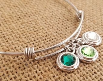 SALE Mothers Bracelet -Mother Bracelet -Grandma Bracelet- Birthstone Bracelet -Adjustable Birthstone Bracelet - Stacking Bracelet - Layering