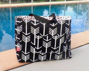 Beach Bag Arrows - Beach Tote - Summer Bag - Summer Tote