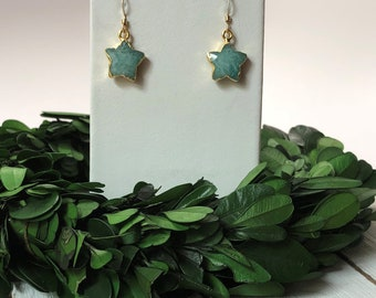 Amazonite Star Earrings Amazonite Earrings Dangle Earrings Small Dangle Earrings Earring Gifts Under 20 Gifts For Her Earrings For Her