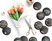 Chalkboard style toppers-...