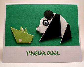 Origami Panda Mail Card