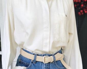 Vinatge Ivory Button Up