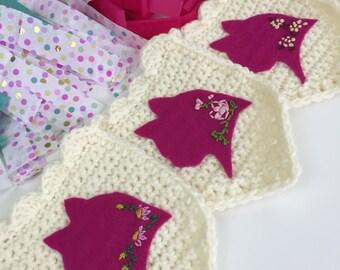 Crochet Garland, Cats, Cat Garland, Party Decor Garland, Felt Cats Banner, Cat Wall Hanging, Crochet Cat Banner, Nursery Garland