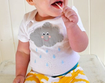 Cloud Baby onesie or Toddler shirt - Happy Raincloud