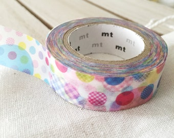 Japanese Various Colorful Dots washi tape masking tape - baby shower decoration Pretty Tape