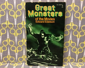 Great Monsters of the Movies by Edward Edelson paperback book horror vintage
