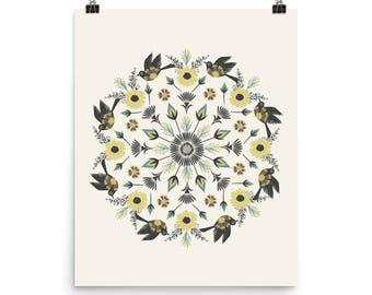 Gypsy Bird Mandala - Archival Quality Print