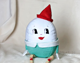 "Custom 6"" Stuffed Humpty Dumpty - Stuffed Egg - Stuffed Toy - Softie - Toy - Fairy Tales - Jill Hamor Humpty Dumpty"