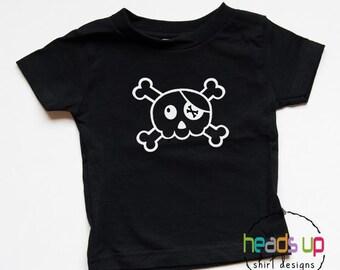Skull Shirt Toddler Boy/Girl - Baby Bodysuit Skull - Halloween tshirt Baby/Toddler - Skull Baby Costume Halloween - Trendy - Kids Gift -