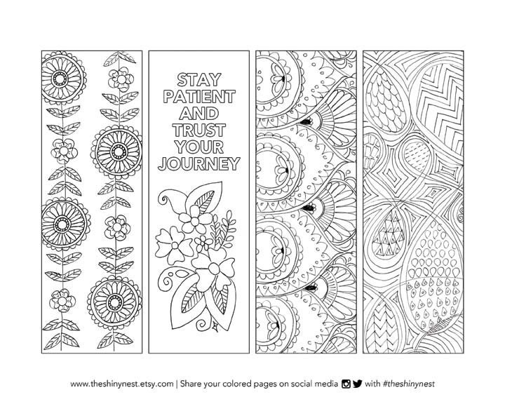 Coloring Bookmarks, Printable coloring page, Printable Bookmark ...