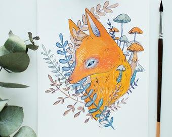 Grumpy Fox Print  - Signed (A5)