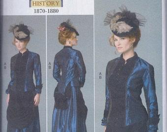 Butterick 6305 Misses Women's Victorian Steampunk Costume Jacket Bustle Skirt UNCUT Sewing Pattern