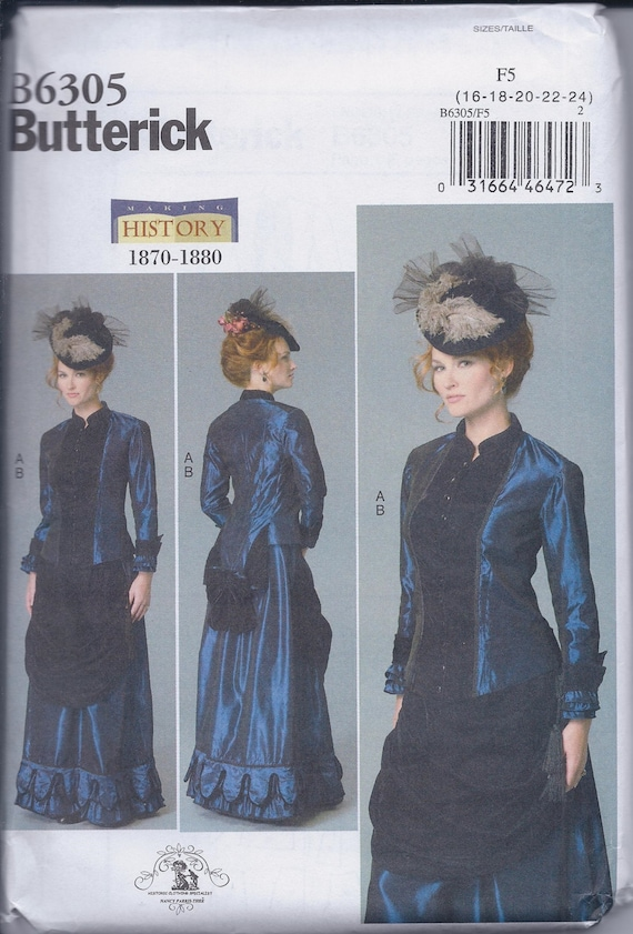 Butterick 6305 Misses Women\'s Victorian Steampunk Costume Jacket ...