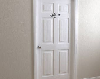 Vinyl Apartment Door Numbers | Apartment Number Front Door Decor House  Number Address Number Curb Appeal