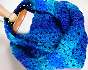 Infinity Scarf - sea blue stripes