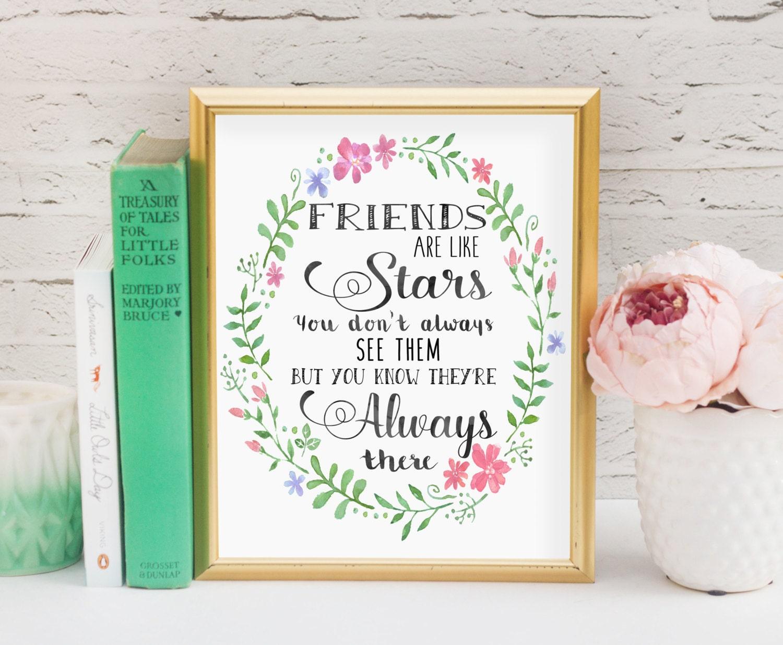 Freunde sind wie Sterne Freund Geschenk Kunstdruck/Freund
